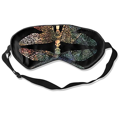 (Dragonfly Shadow Sleep Eyes Masks Sleeping Blindfold Eye Shade Cover for Travelling, Night Noon Nap, Mediation Or Yoga)
