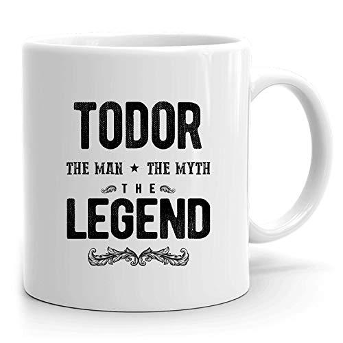 e68e4651667 Todor Mug: Personalized Gift, Ceramic Mug That says Todor, 11 oz