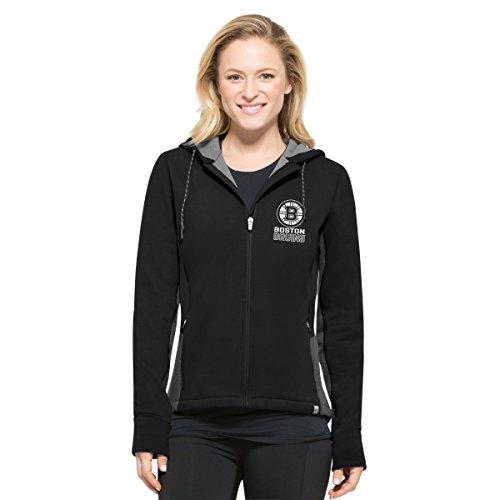 NHL Boston Bruins Women's '47 Compete Full-Zip Hood, Jet Black, Medium