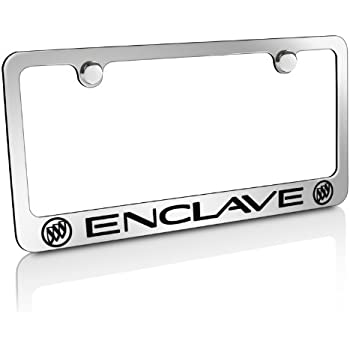 Amazon Com Buick Enclave Dual Logos Chrome Metal License