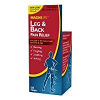 MagniLife Leg & Back Pain Relief Targets Sciatica Symptoms, Burning, Tingling, Shooting, Stabbing Pains - Fast-Acting Natural Medicine with Magnesium Lower Back, Buttock & Leg Discomfort - 125 Tablets