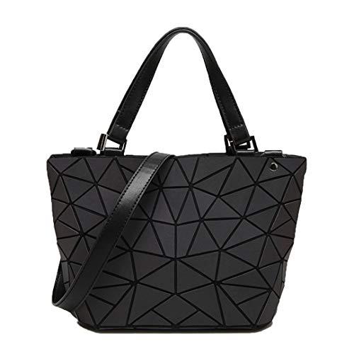 Women Bags Luminous Sac Diamond Totes Geometry Shoulder Messenger Bag Laser Female Purse Handbags Bolso Luminous S (Sac Furla)