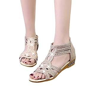 Calzado Chancletas Tacones Zapatos planos Primavera verano Señoras Sandalias de cuña de mujer Moda Fish Mouth
