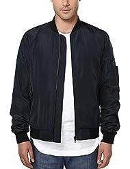 HEMOON Men's Casual Sportswear Lightweight Baseball Bomber Jacket