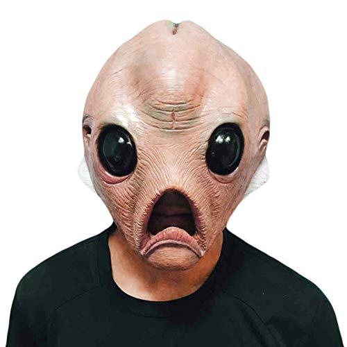 N-B Mascara de latex Extraterrestre, mascara de Cabeza Completa Transpirable, mascara de Halloween, mascara de Miedo, Disfraz de Fiesta, Disfraz de Cosplay