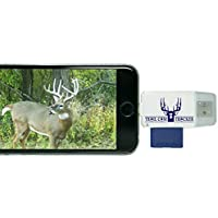 Trail Cam Tracker Trail Camera SD Card Reader for iPhone & Android – The BEST & FASTEST Game Camera SD Card Viewer – Smartphone Memory Card Reader - FREE Case