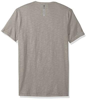 Calvin Klein Jeans Men's Short Sleeve Stripe V-Neck T-Shirt