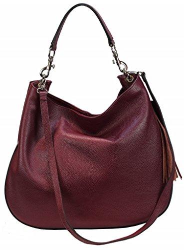 d784e6936022a Bozana Bag Sia weinrot Italy Designer Damen Handtasche Ledertasche  Schultertasche Tasche Leder Shopper Neu