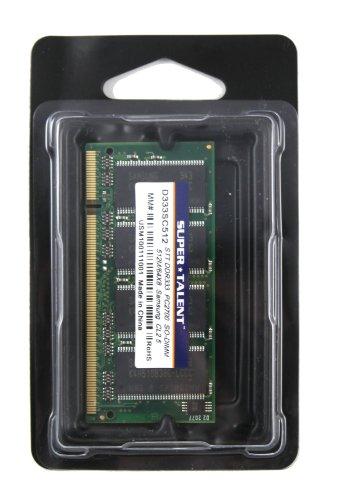 Super Talent DDR333 SODIMM 512MB/64x8 Hynix Chip Notebook Memory D333SC512H