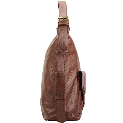 BORSA TOTALLY VITELLO DI PELLE VERA 3118 IN SPALLA Marrone A COnBFwCqg