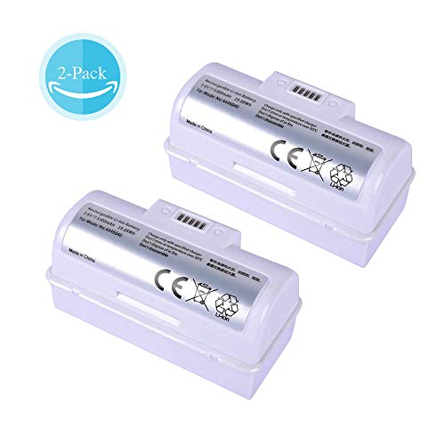 Replacement iRobot 3.6V Battery for iRobot Braava Jet 240 Floor Mopping Robots lithium 5300mAh Battery 2-Pack