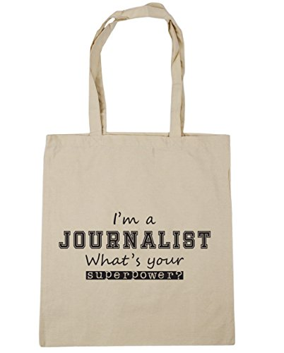 Journalist What's Beach 42cm Shopping HippoWarehouse Gym x38cm I'm litres a Natural Bag Superpower 10 Your Tote CqwEt4wx