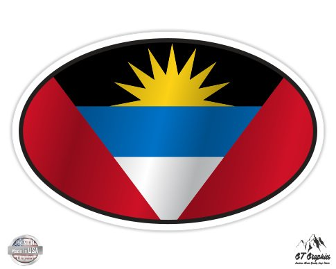 Antigua and Barbuda Flag Oval - 5