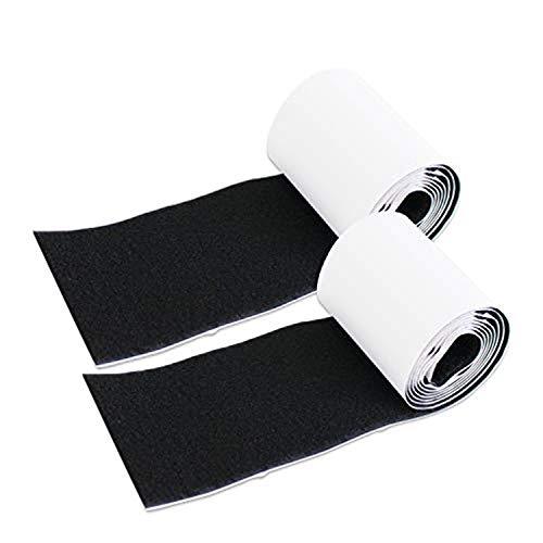 - Self Adhesive Hook Loop Strips,4in Wide 1.5 Meter Long Super Sticky Nylon Fabric Fastner,Black