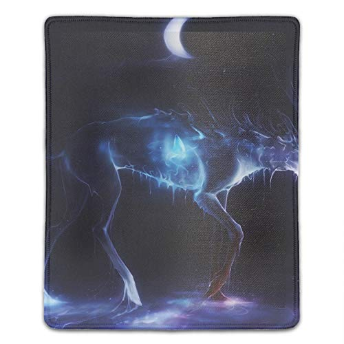 - Glowing Elk Mouse Map Pad with Nonslip Base 8.66 x 7.08 inch, Waterproof Mat for Desktop, Laptop, Keyboard, Enjoy Precise & Smooth Operating Experience