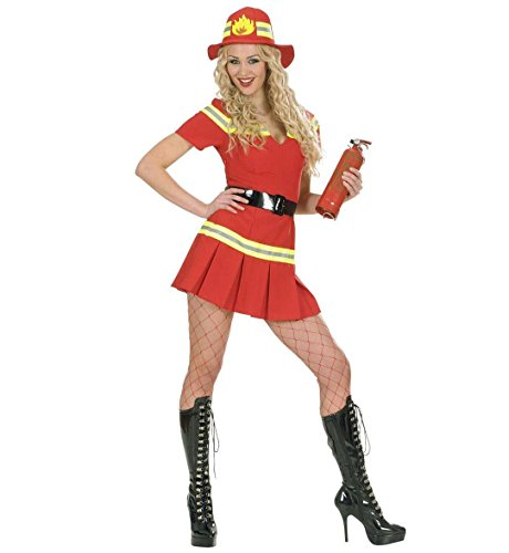 Firegirl Costumes (Ladies Firegirl Costume Medium Uk 10-12 For Tv Cartoon & Film Fancy Dress)