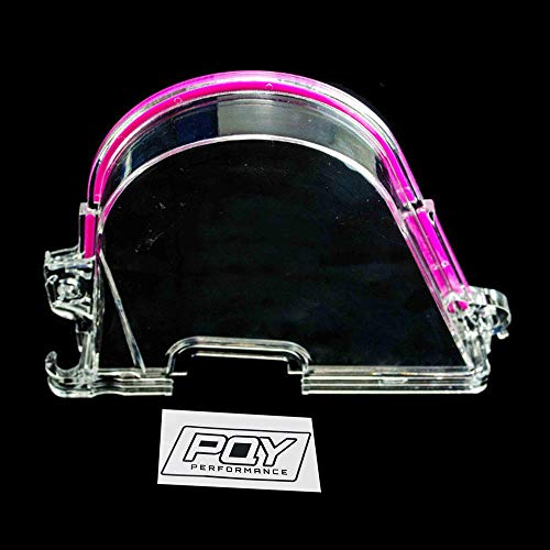 PQYRACING Clear Cam Gear Timing Belt Cover Turbo Cam Pulley for Honda Civic 96-00 D15 D16