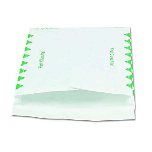 Survivor R4510 Tyvek Expansion Mailer, First Class, 10 x 13 x 1 1/2, White (Case of ()