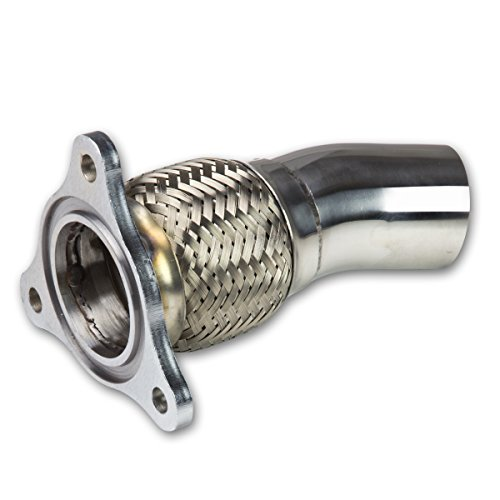 Chevy Cobalt Stainless Steel Turbo Downpipe/Dump Pipe - Flex Exhaust Outlet (Exhaust Flange Flex Pipe compare prices)