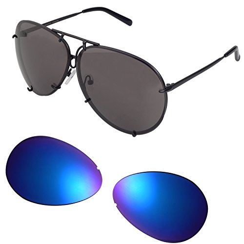 Designer Sunglasses for Men & Women Oversized Aviator, 3 Pairs Lens (Big Designer Sunglasses)