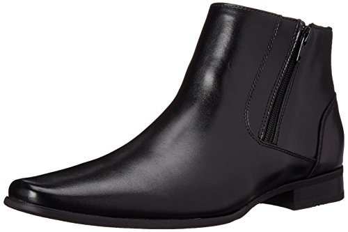 Calvin Klein Men's Beck Leather Boot, Black, 7.5 M US ()