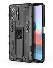 شاومى ريدمى نوت 10 برو (Xiaomi Redmi Note 10 Pro) جراب سوبر سونك حماية ضد الصدمات مع مسند - (اسود)