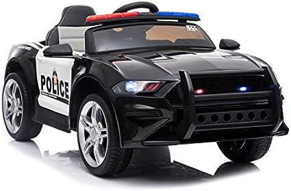 ATAA Coche de policía Coche eléctrico Infantil con Luces y Sonidos de Sirena: Amazon.es: Juguetes y juegos