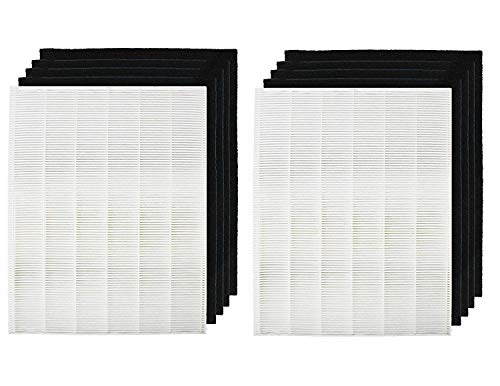 Tingkam Air Purifier Filters Compatible with Winix. Filter A. Compare to Part # 115115, True HEPA Filter (2 HEPA & 8 Pre-Filters