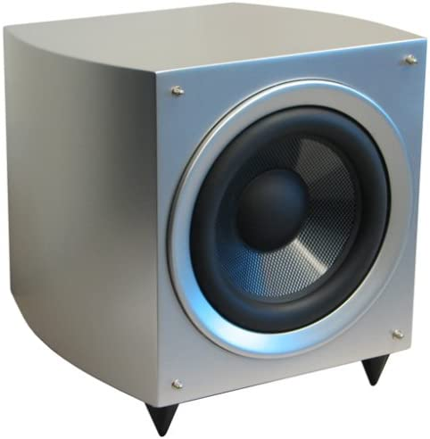 Pure Acoustics aktiver Subwoofer Noble 10 SUB Silber-Lack