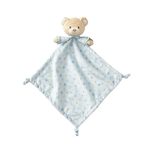 Teddy Enesco Bear - Beginnings by Enesco Plush Baby Bear Lovey Blanket, 16 inches, Blue
