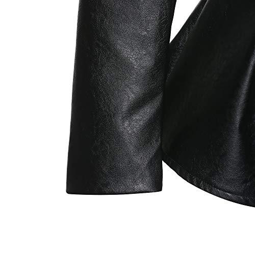 Donna Capispalla Retrò Sintetica Nera Ecopelle Invernale Mkhdd Cappotto Black Gotico Giacca Giubbotto Pelle Pu Da Di In IqBv6