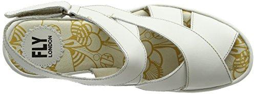 Fly London P500737004, Sandalias de Cuña Mujer Marfil (offwhite 004)