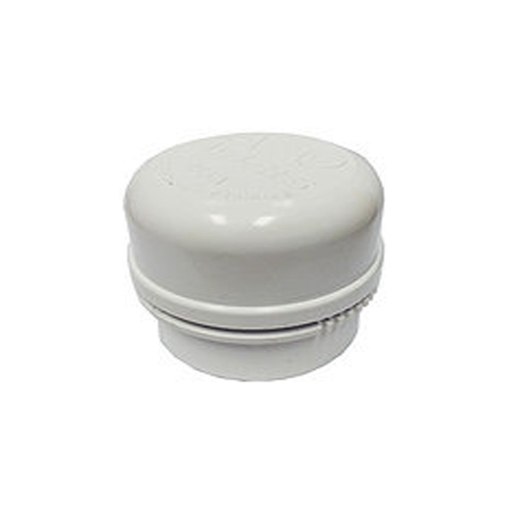 Ayrlett A-4 MAX Air Admittance Valve 500 DFU with PVC and No Hub Adapter Configuration, 4''-3'', White