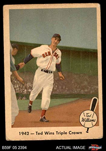 (1959 Fleer # 19 Wins the Triple Crown Ted Williams Boston Red Sox (Baseball Card) Dean's Cards 3 - VG Red Sox)