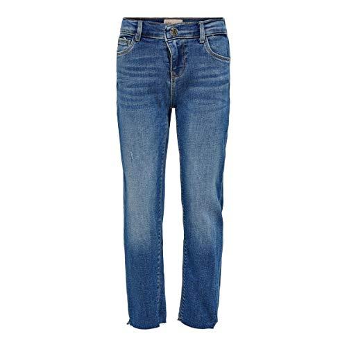 Kids ONLY meisjes Jeans Konemily St Raw Med Blue Jeans Noos