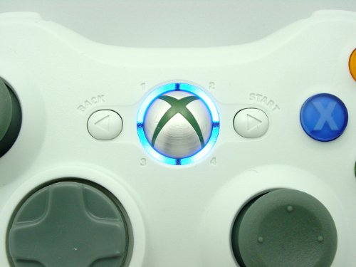 BLUE LEDS Xbox 360 Rapid Fire 8 MODE Stealth WHITE Wireless Controller Modded