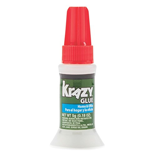 Krazy Glue Home & Office Brush On Super Glue, Brush Applicator, 5 Grams