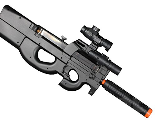 Well D90H P90 STYLE FULL AUTO ELECTRIC AIRSOFT ELECTRIC RIFLE WITH A TARGET AND OTHER ACCESSORIES by Well
