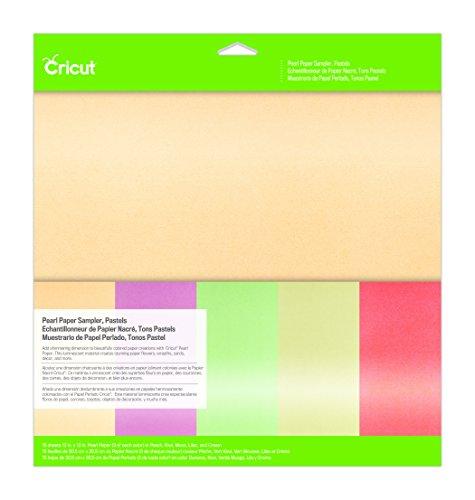 Cricut 2003513 Pearl Paper Sampler, Pastels, 12X12,