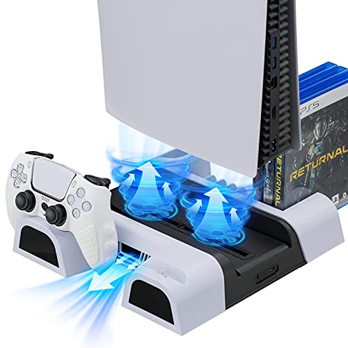 dock station con coolers stand de carga para playstation 5