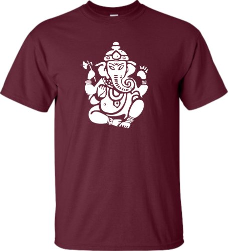 Large Maroon Adult Ganesh Lord Ganesha Hindu T-Shirt