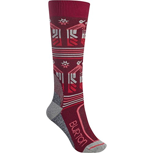 Burton Women's Trillium Socks, Sangria, Medium/Large