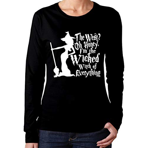 Wicked Witch of Everything Halloween Fun Women Crew Neck Long Sleeve Shirts Tops ()