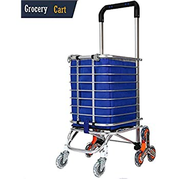 Amazon Com Stair Climbing Cart Rolling Shopping Carts