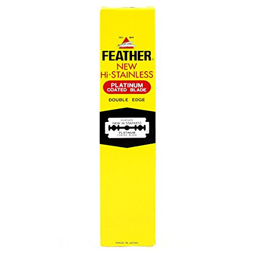 Price comparison product image 100 Feather Razor Blades NEW Hi-stainless Double Edge