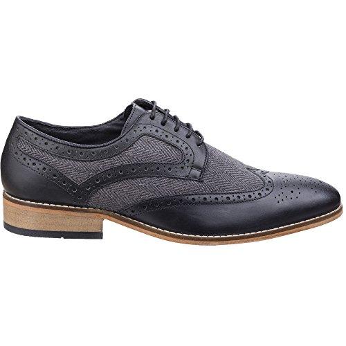 Lambretta Mens Fenchurch Combi Lace Up Brogue Oxford Smart Shoes Black