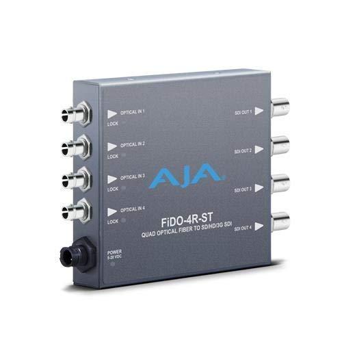 AJA FiDO-4R-ST Four Channel ST SDI to Fiber Mini Converter Aja Dwp Power Supply