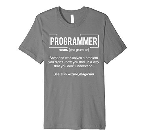 Mens Programmer t shirt & Funny Programming Gift shirt 3XL Slate
