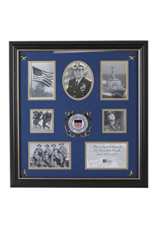 Coast Guard Photo Frame - Allied Frame US Coast Guard Medallion 7 Picture Collage Frame with Stars