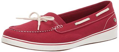 Keds Women's Augusta Twill Sneaker, Red, 11